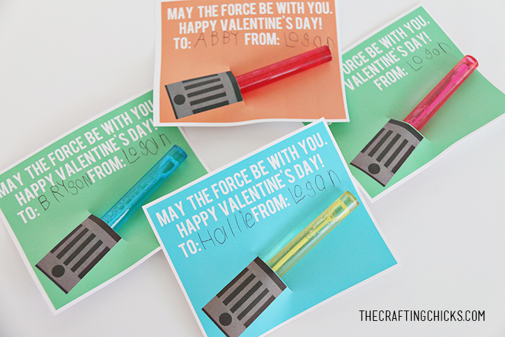 It is a photo of Lightsaber Valentine Printable with classroom cricut