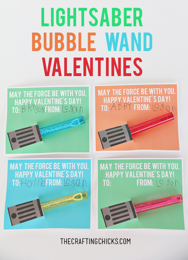image relating to Lightsaber Valentine Printable referred to as Star Wars Lightsaber Bubble Wand Valentines - The Creating