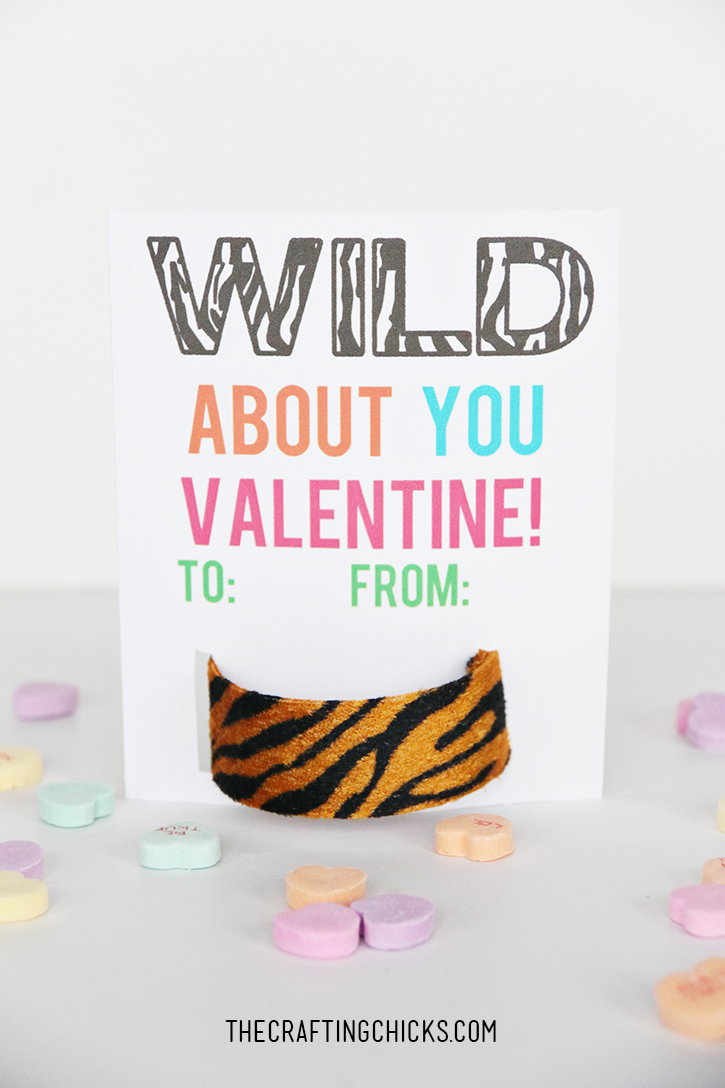I'm Wild About You Slap Bracelet Valentines - The Crafting ...