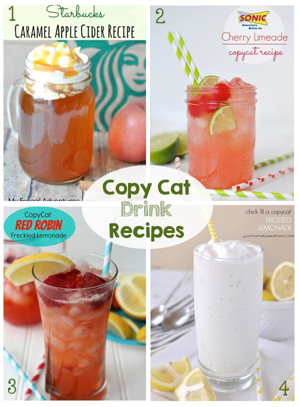 25+ Favorite Copy Cat Recipes - Drinks, Appetizers, Entrees, Side Dishes, Desserts and Disneyland Recipes - So many yummy recipes!