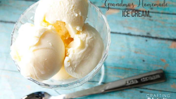 Grandma's Homemade Vanilla Ice Cream