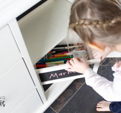 Kids Coloring Storage Organization