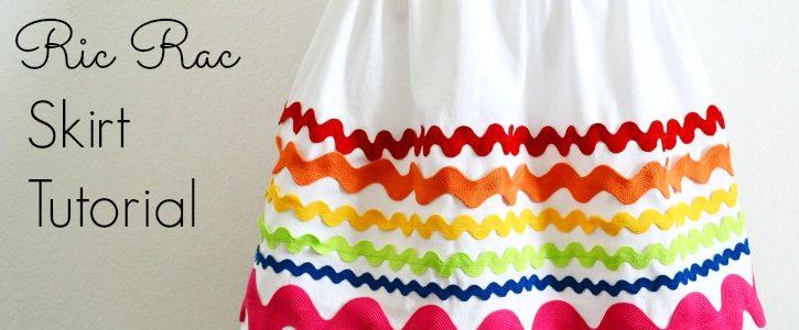 Rainbow Ric Rac Skirt