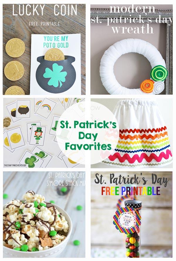 St. Patrick's Day Favorites - printables, treats, decor, garland, wreath, class party, preschool, games, kids activities