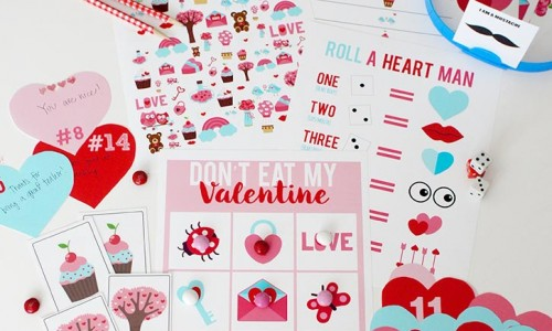 Valentine-Printable-pack from the Crafting Chicks