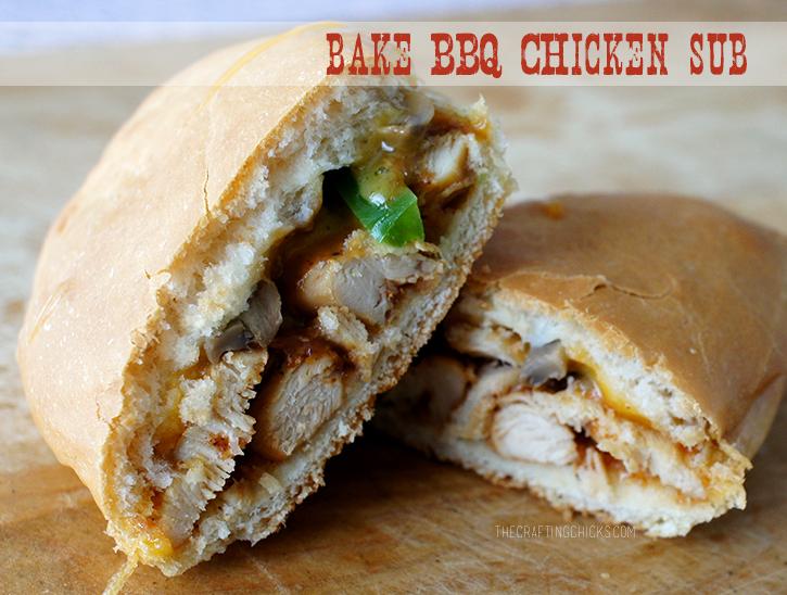 Baked BBQ Chicken Sub