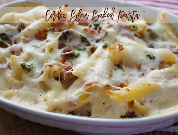 cordon bleu pasta bake