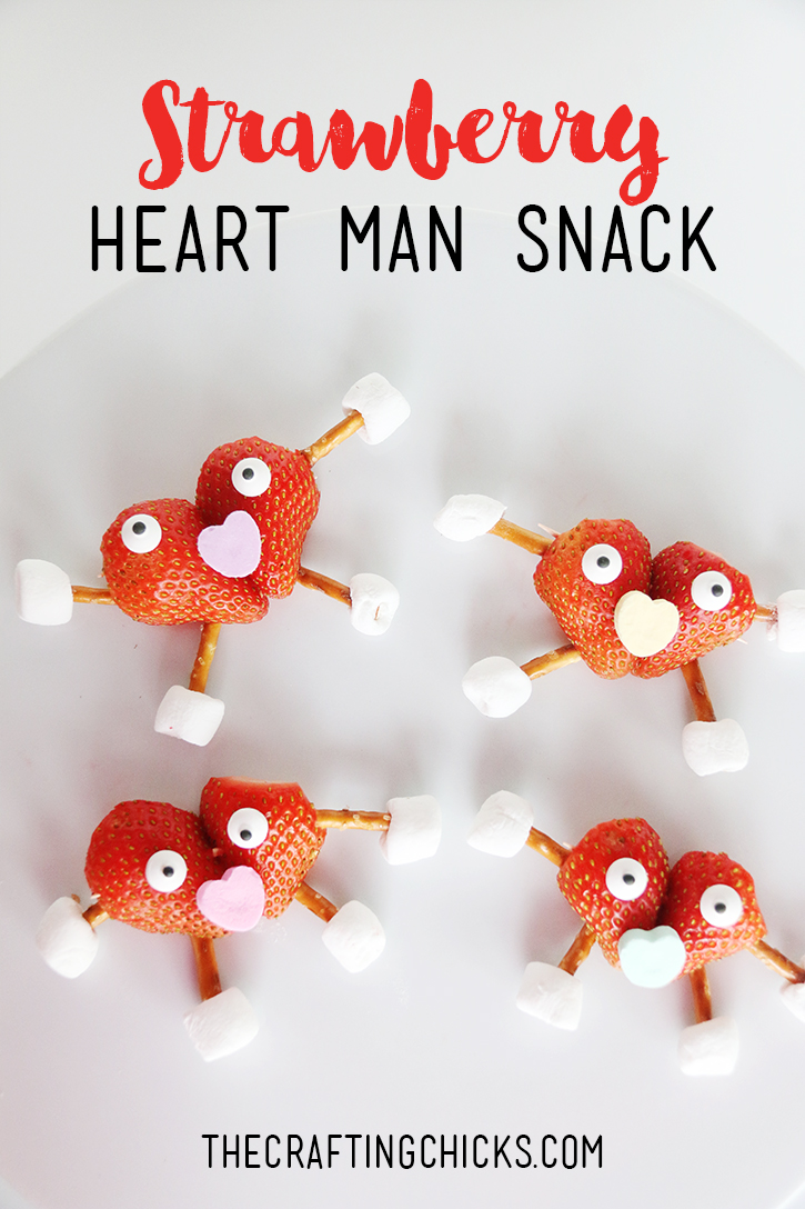 Strawberry Heart Man Kid Snack