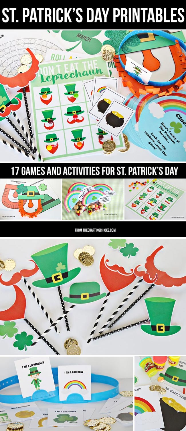 st patrick u0027s day printable pack the crafting