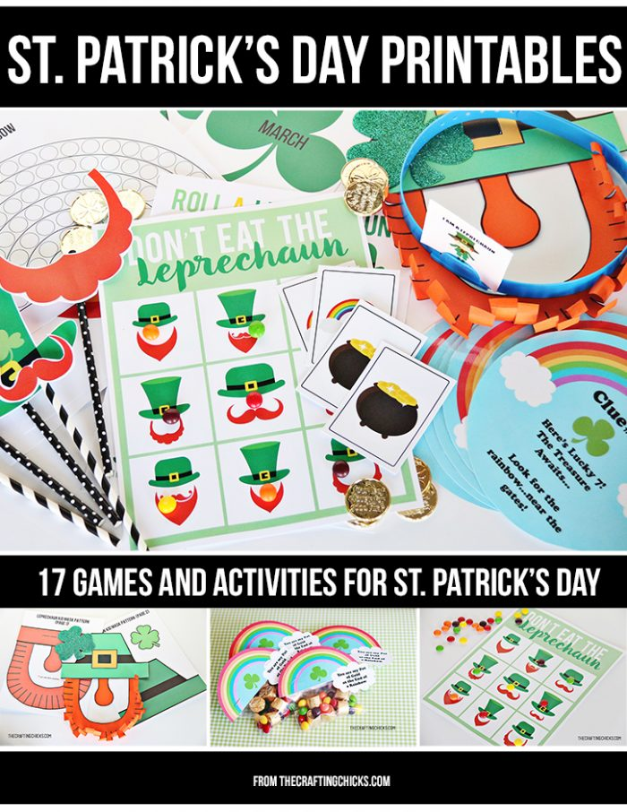 St. Patrick's Printable Pack - games, activities, photo props, gift tags... so many printables for your St. Patrick's Day party!