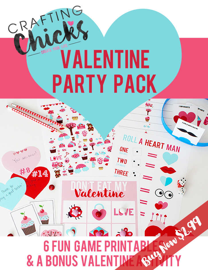 Valentine Printable pack full of valentine games and activities
