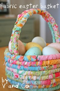 DIY Easter Baskets - fabric baskets, wood baskets, personalized baskets, pails, buckets, easter tags and party favors - Love these simple Easter baskets!