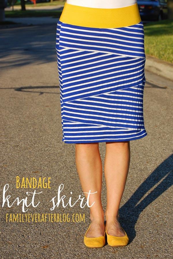 Bandage style knit skirt tutorial