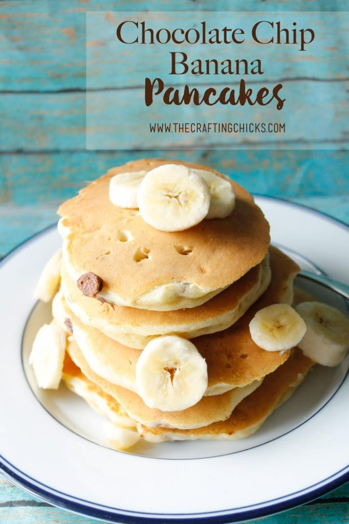 Chocolate Chip Banana Pancakes