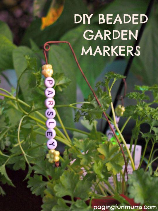 Beaded Garden Markers