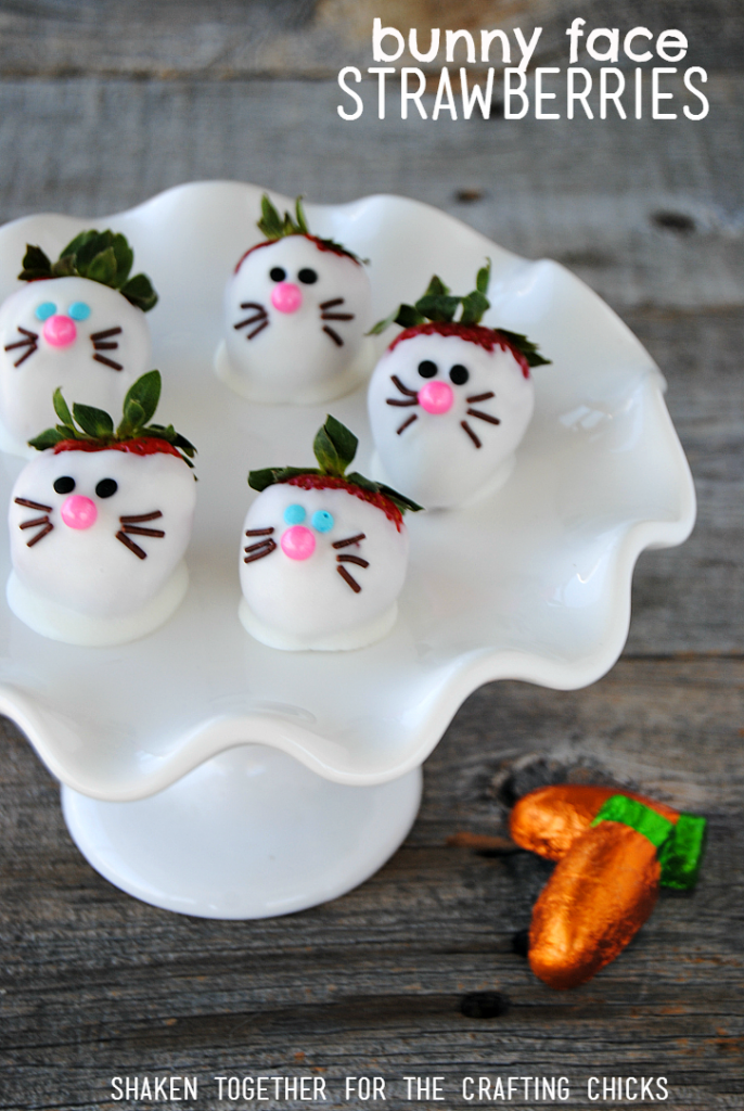 Bunny Face Strawberries are the cutest no bake Easter treat ever!