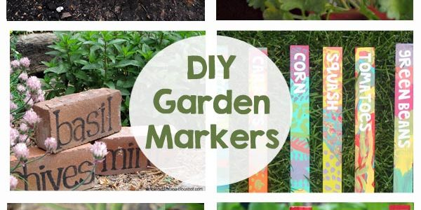 DIY Garden Markers - A fun way to add color and personality to your garden! A great activity for kids too!