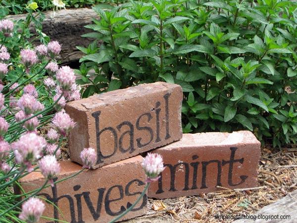 Brick Garden Markers