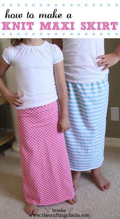 Knit Maxi Skirt tutorial