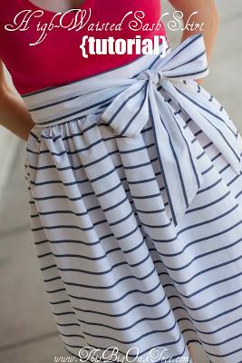 High wasted sash skirt tutorial