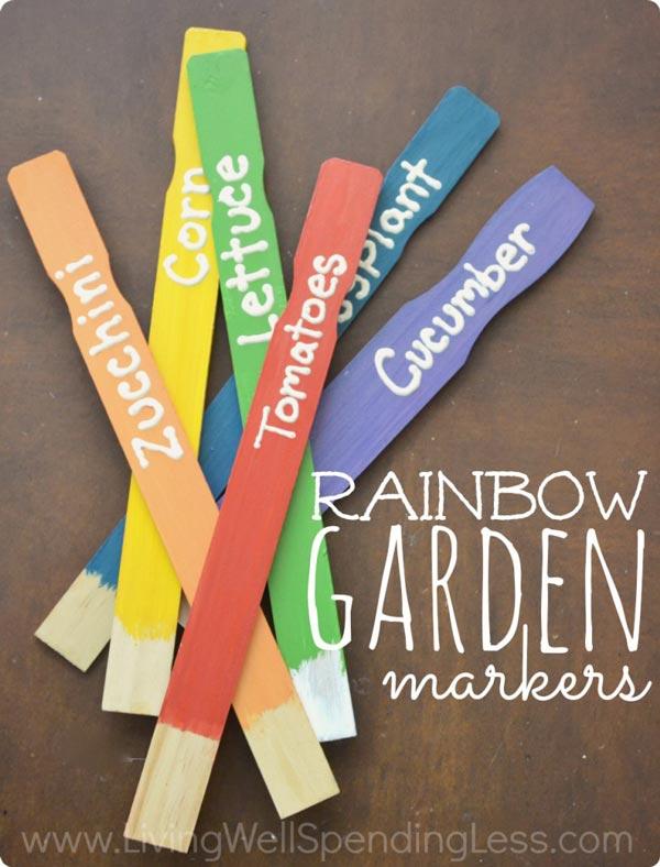 Rainbow Garden Markers