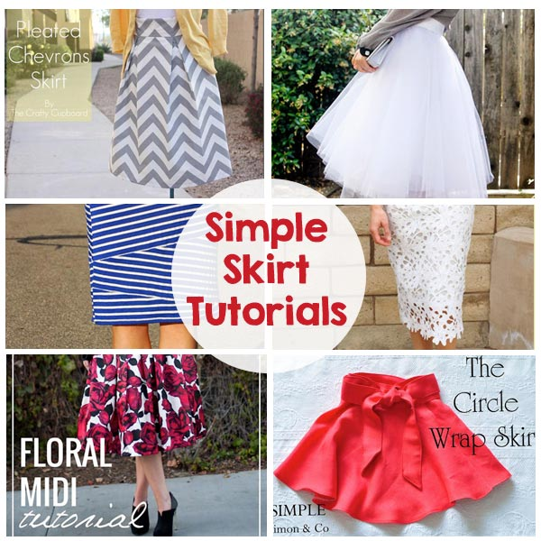 Sewing Skirts Tutorials - The Crafting Chicks