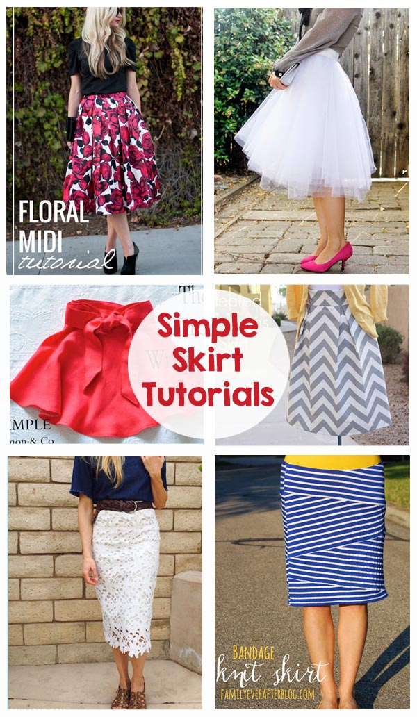 Sewing Skirts Tutorials - Maxi skirt, pencil skirt, tulle skirt, circle skirt, midi skirt... love these!