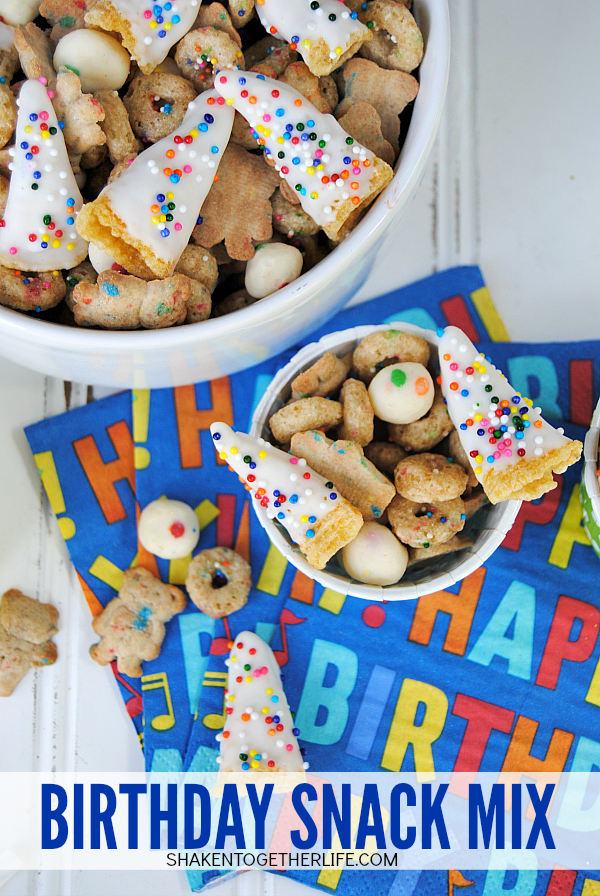 Birthday Snack Mix from Shaken Together!