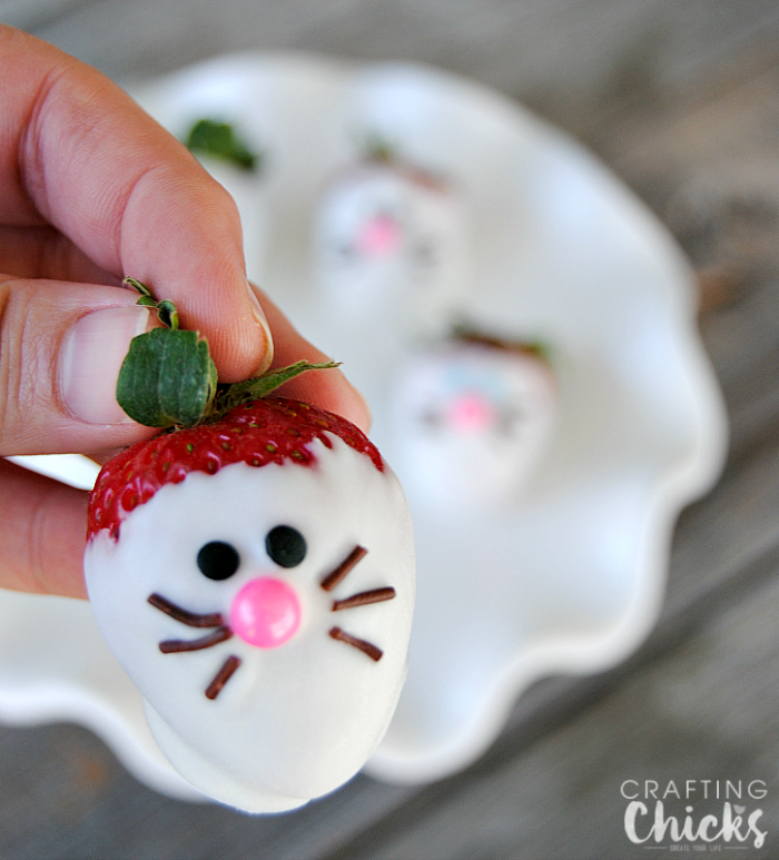 Bunny Face Strawberries are an easy no bake Easter treat that are almost too cute to eat ... almost!