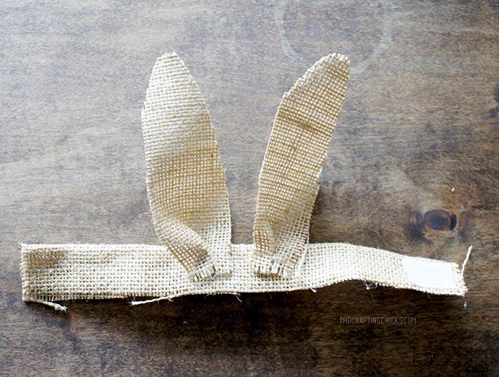 Burlap Bunny Ear Napkin Ring