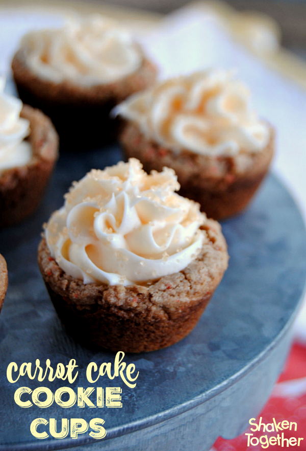 Carrot Cake Cookies Cups from Shaken Together