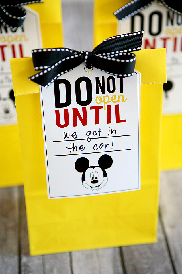 Disney Trip Tags and Fun Bags from Eighteen25