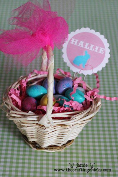 Mini Easter Basket Place Card Holders