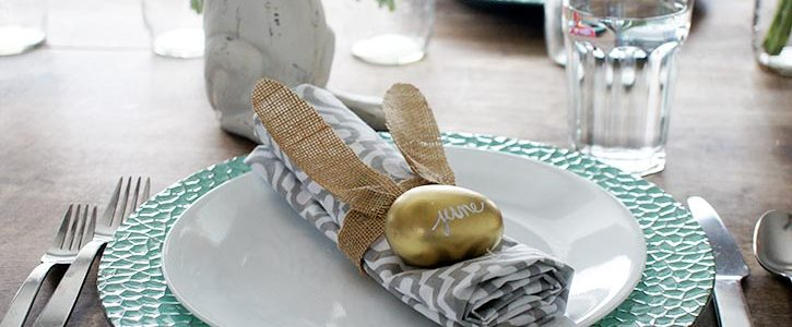 Burlap Bunny Place Settings