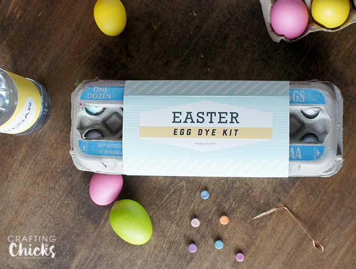 Easter Egg Dye Kit gift idea including free printables