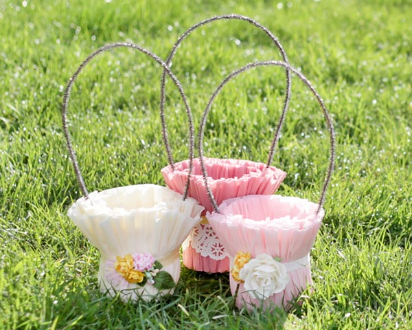 Crepe Paper Easter Baskets