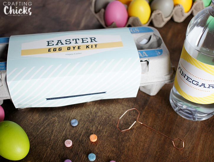 Free Easter Printables for this cute Easter Eg Dye Kit
