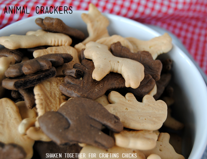 On the Farm Snack Mix - animal crackers fill the farm with animals!