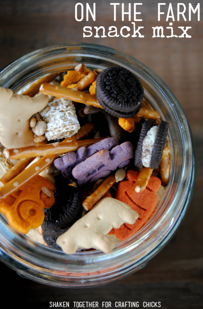 Celebrate all of the fun things founds on a farm with this fun On the Farm Snack Mix from Shaken Together!