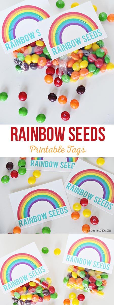 Rainbow Seeds Printable Tags