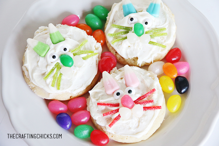 Bunny Face Cookies - A fun Easter acitivty! My kids will love these!