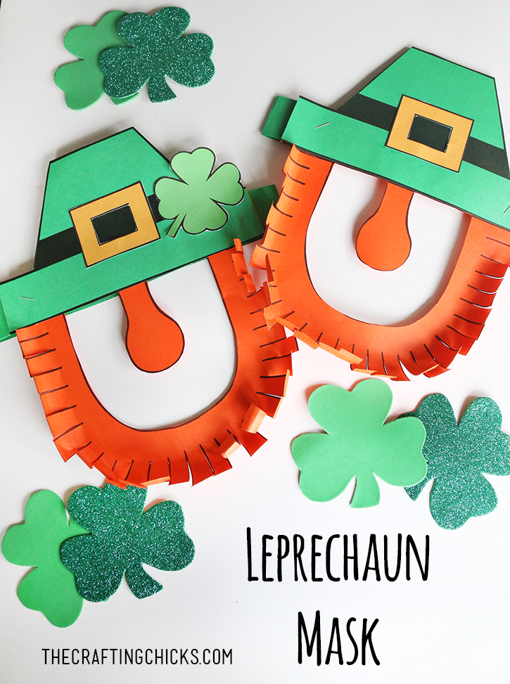 leprechaun mask template leprechaun mask printable the crafting chicks