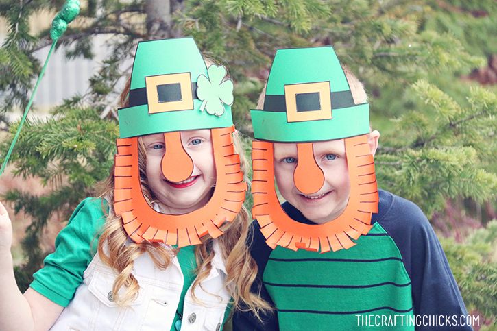 St patrick 39 s day craft archives the crafting chicks for Leprechaun mask template