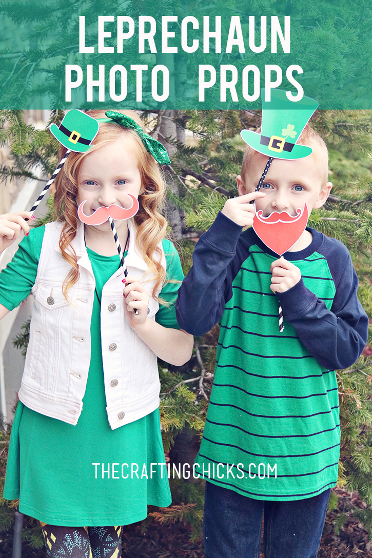 DIY Leprechaun Photo Props Printables - A simple St. Patrick's Day party activity!