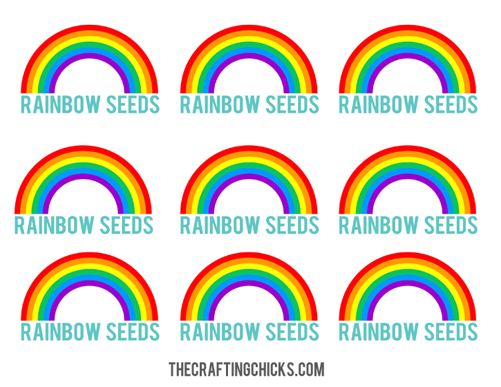 photo relating to Free Printable Rainbow called Rainbow Seeds Absolutely free Printable - The Composing Chicks