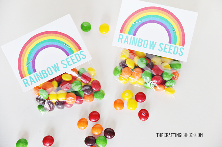 printable rainbow seeds tag