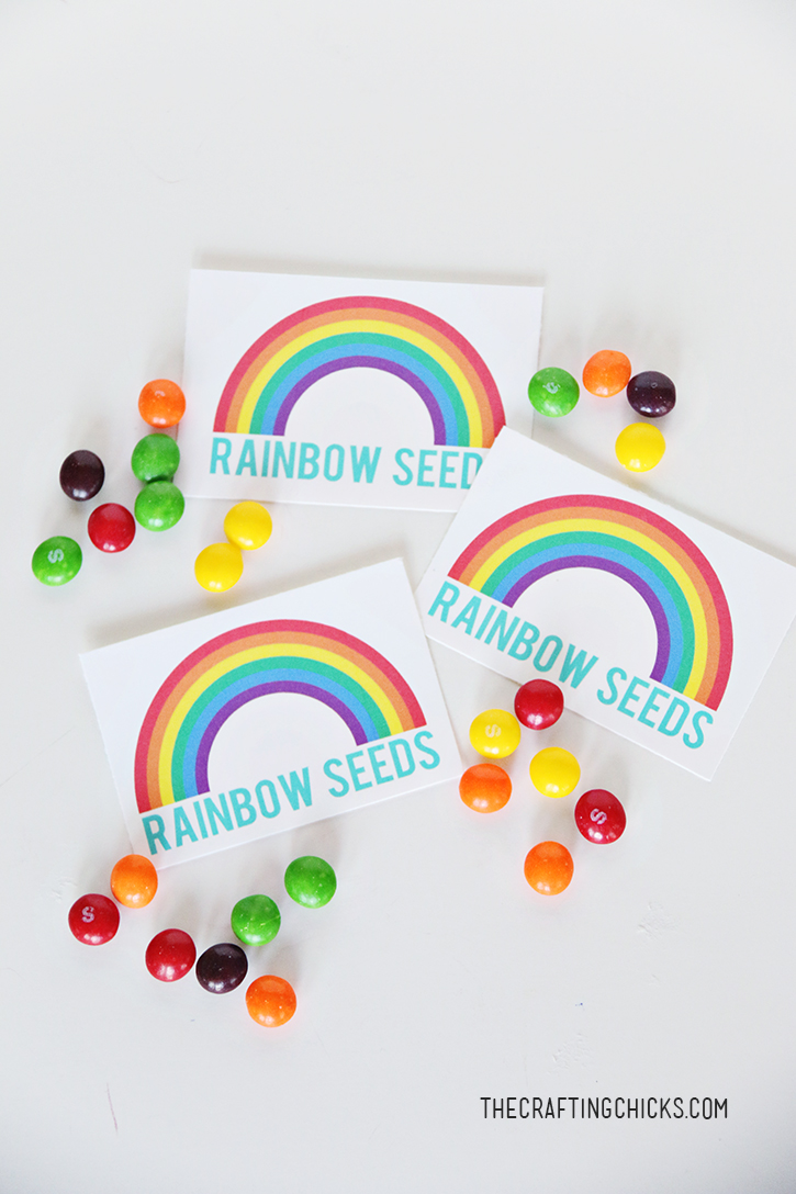 photograph regarding Free Printable Rainbow referred to as Rainbow Seeds Totally free Printable - The Producing Chicks
