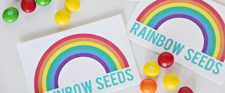 Rainbow Seeds Free Printable
