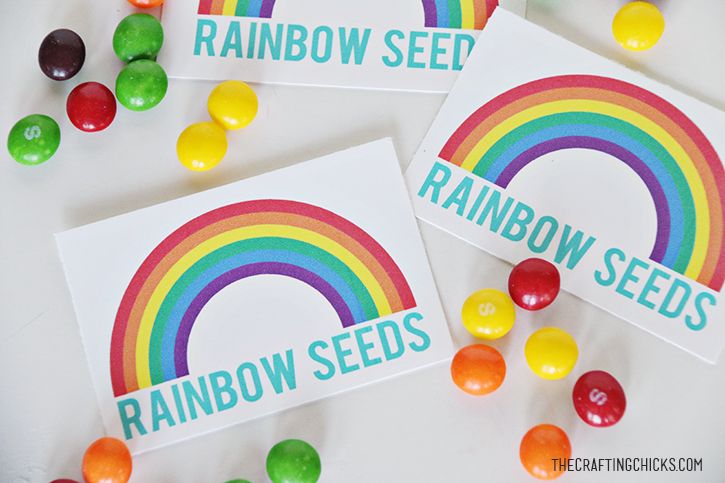 photograph regarding Free Printable Rainbow titled Rainbow Seeds Totally free Printable - The Creating Chicks