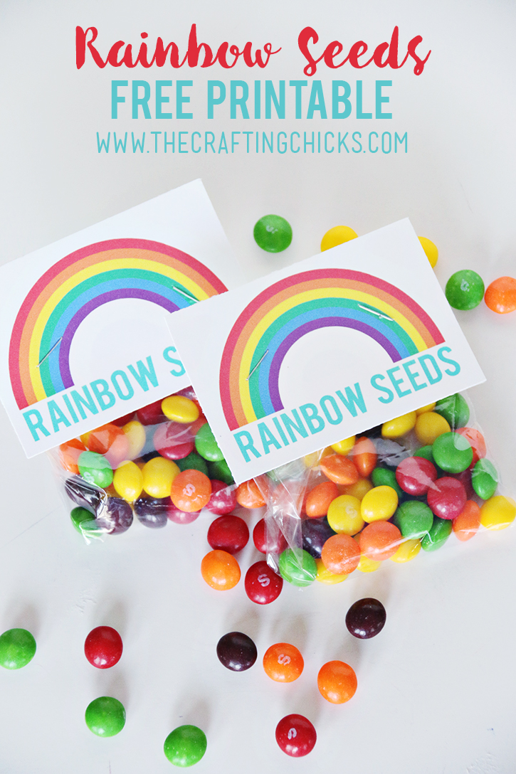 Rainbow Seeds Free Printable - A simple St. Patrick's Day gift idea